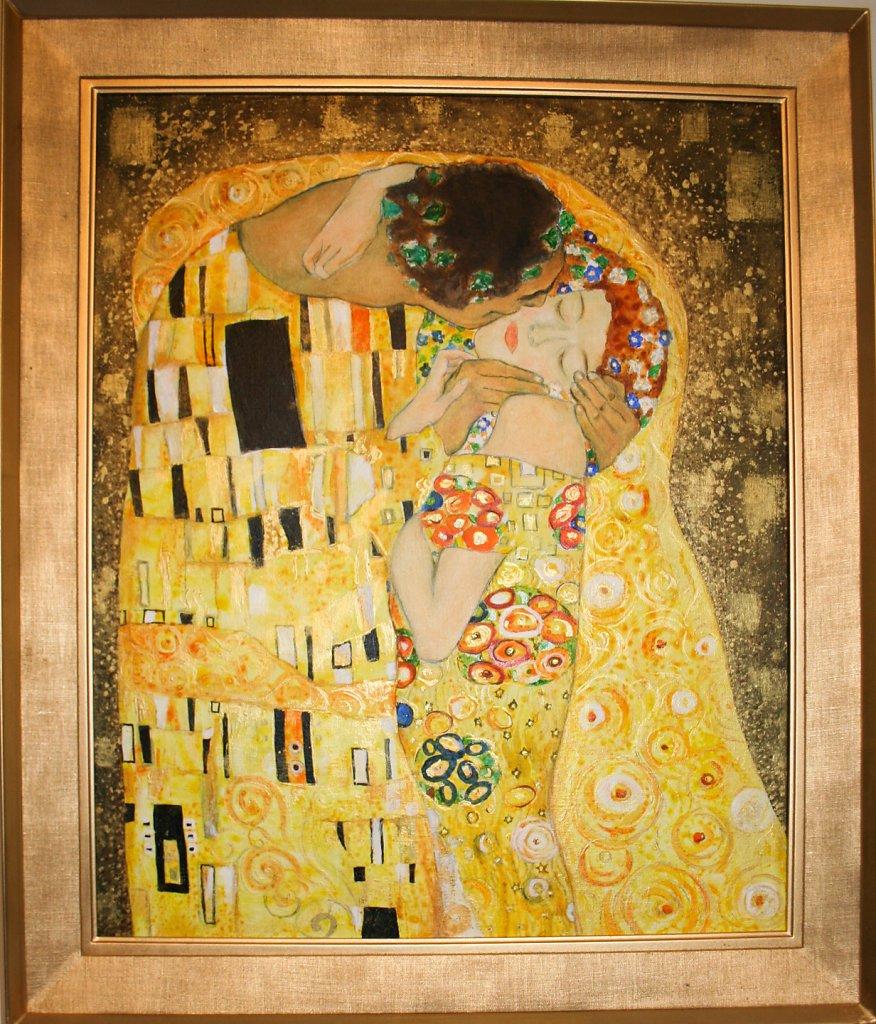 """D'après""""Le Baiser"""" de Klimt, 73x61"""