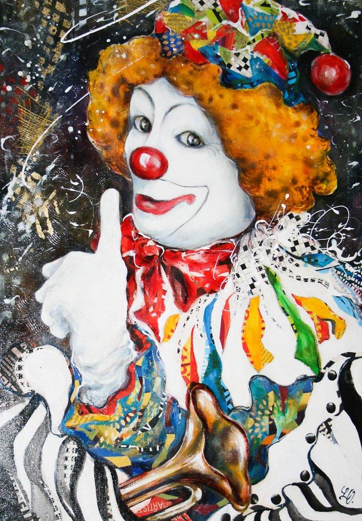 Clown, 70x50
