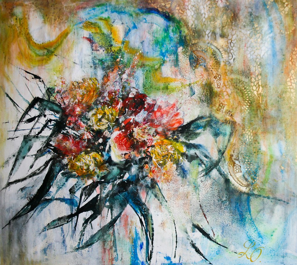 Fleurs figuratives, 90x100