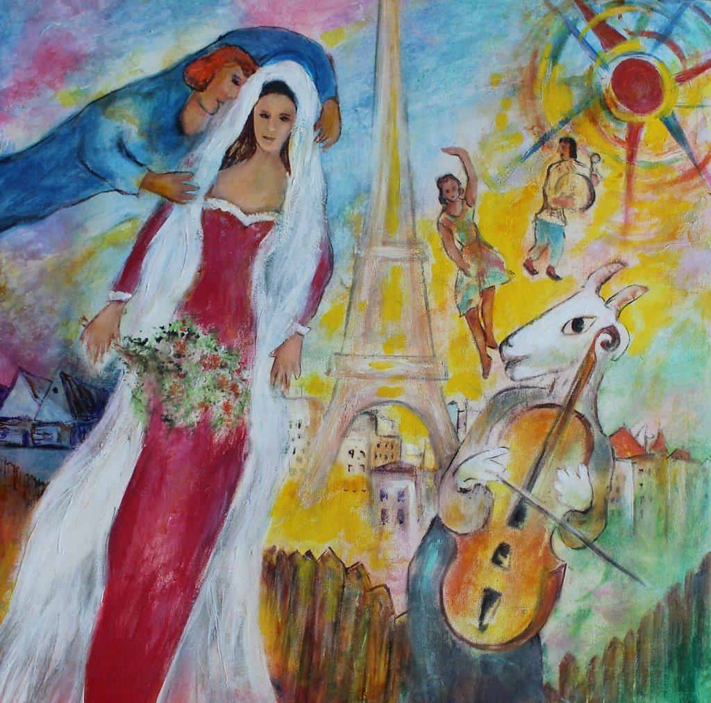 d'après Chagall, 50x50