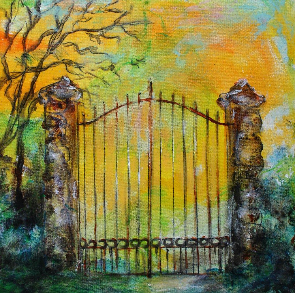 Vieux portail, 30x30
