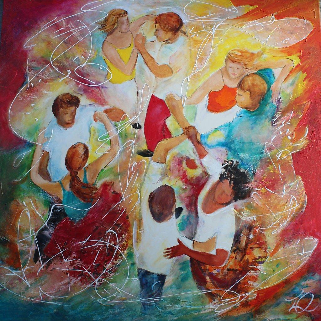 Rueda cubaine, 90x90