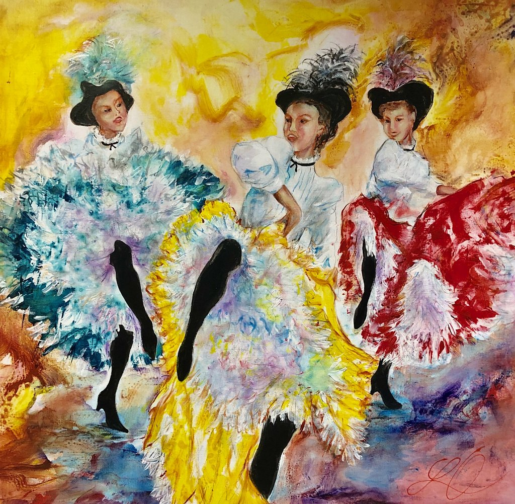 French Cancan, 100x100